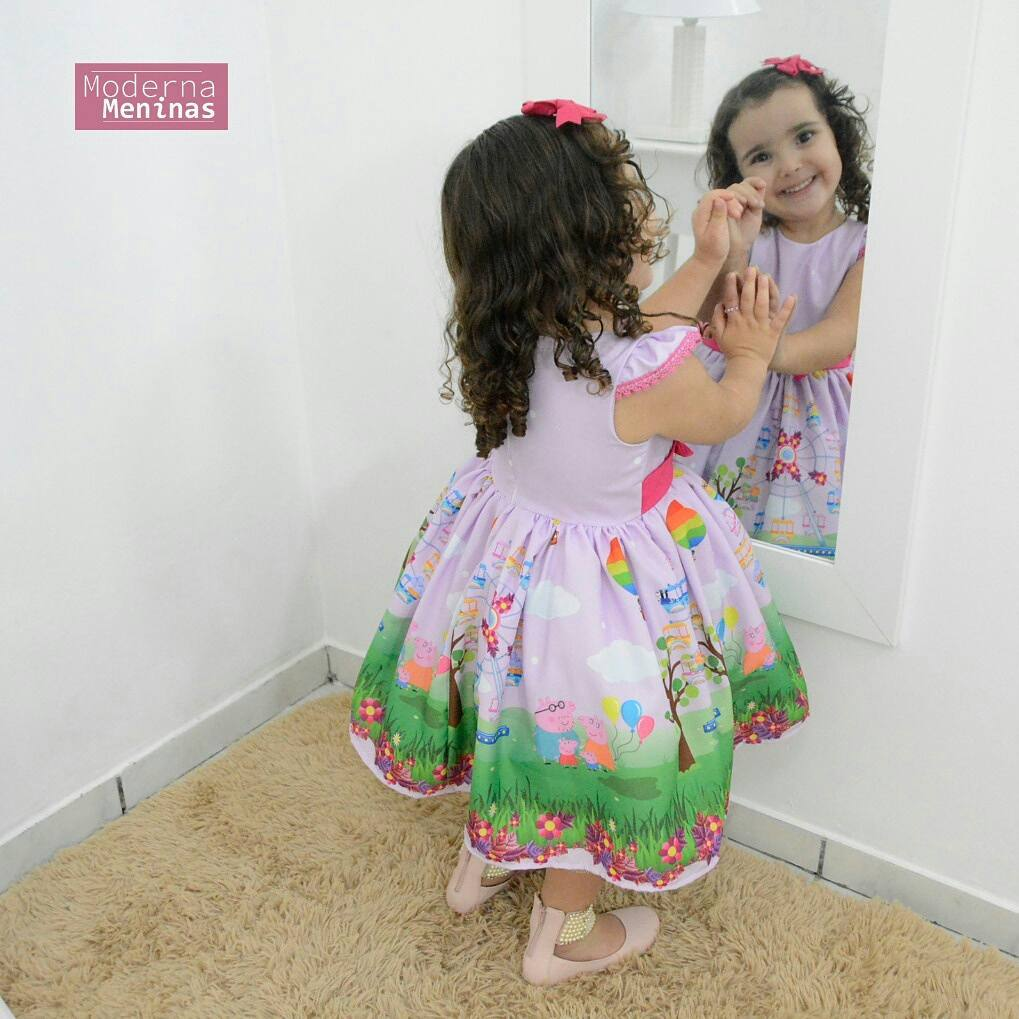 Vestido festa infantil da Peppa Pig