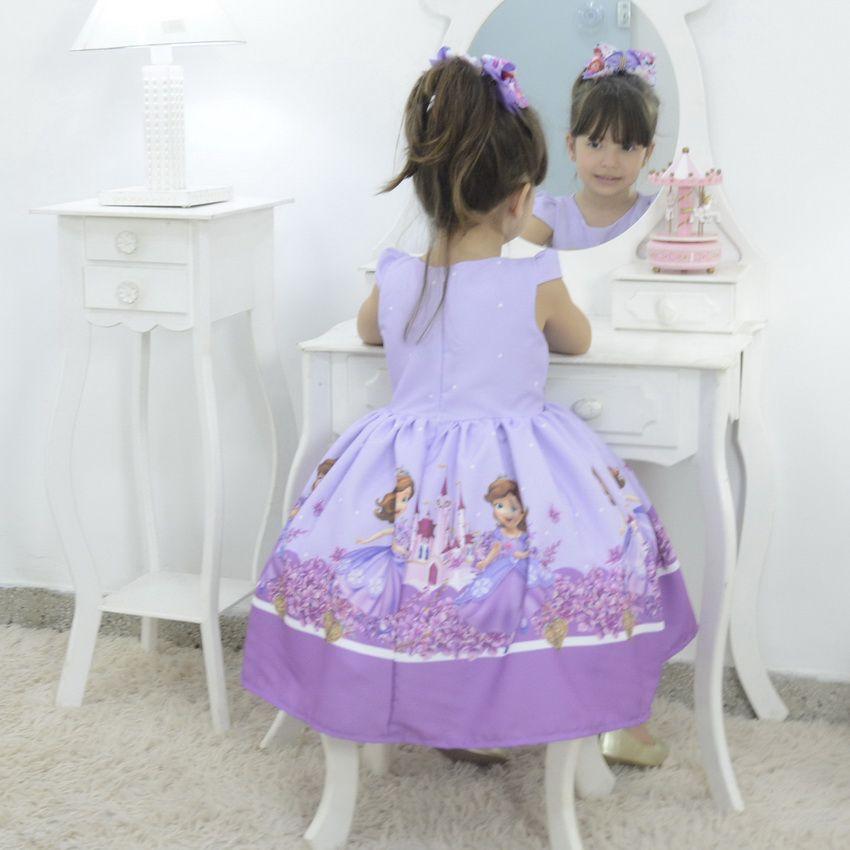 Vestido festa infantil da princesa Sofia - Festa