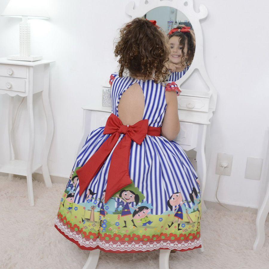 Vestido festa infantil do Show da Luna
