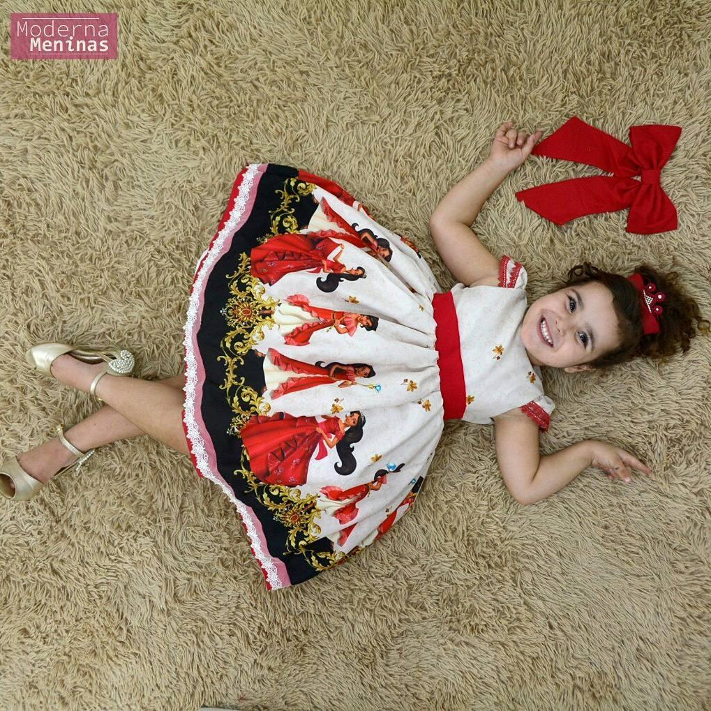 Vestido festa infantil Elena de Avalor