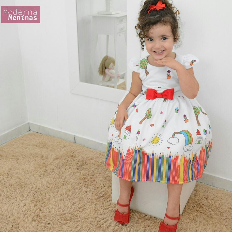 Vestido festa infantil tema aquarela
