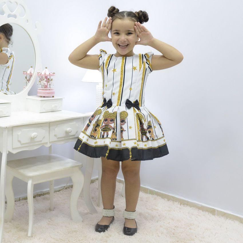 Vestido infantil boneca Lol Queen Bee - Abelhinha