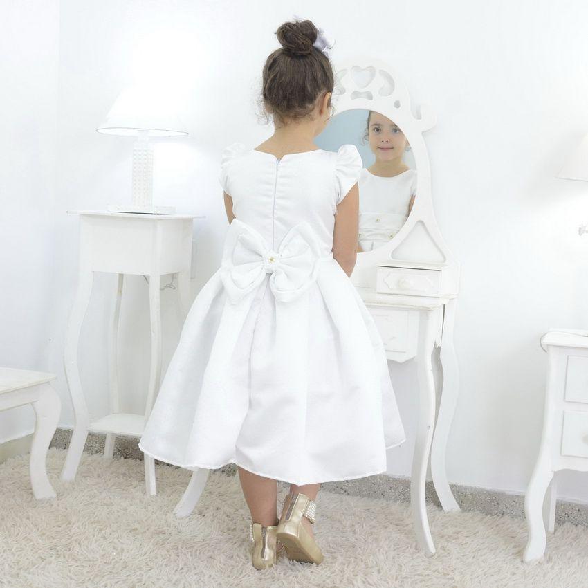 Vestido infantil branco festa