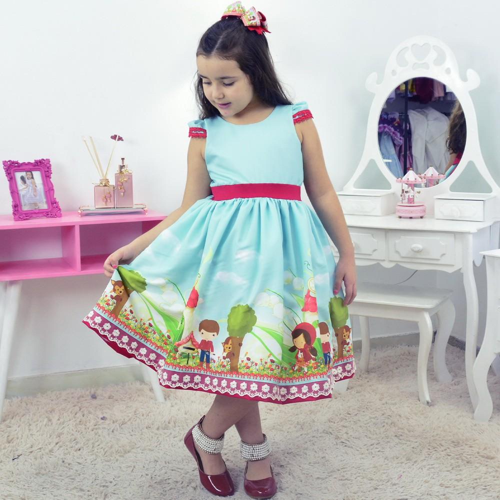 Vestido Infantil Chapeuzinho Vermelho