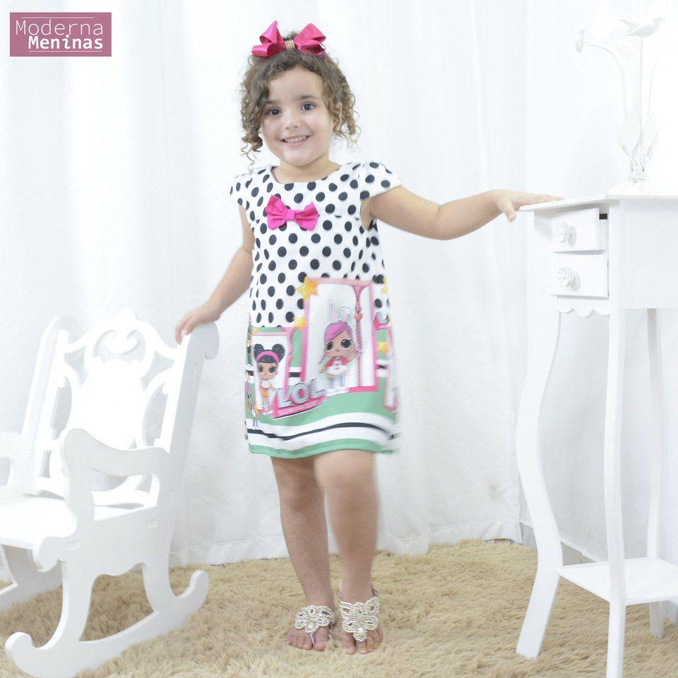 Vestido infantil das bonecas Lol surprise – tubinho trapézio