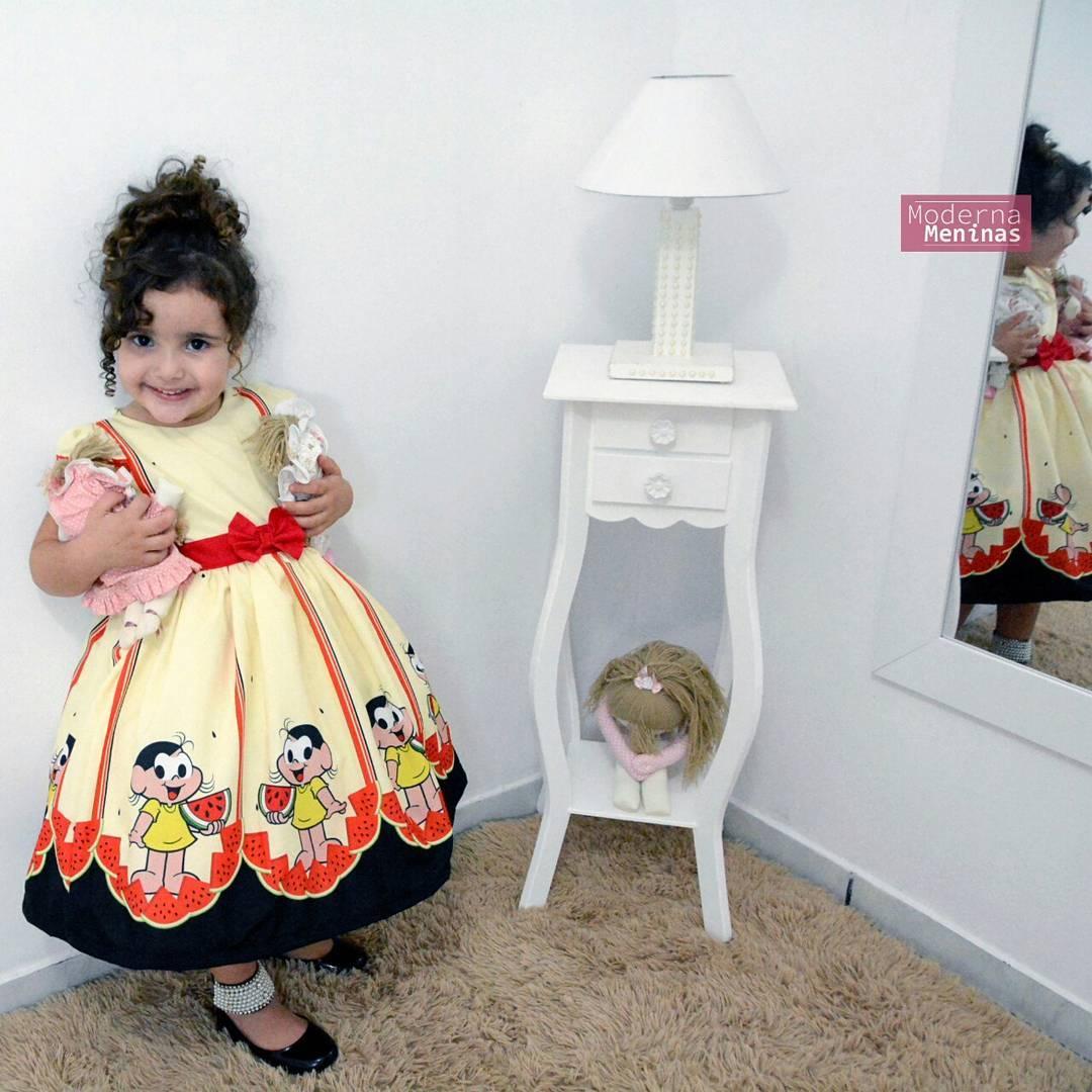 Vestido infantil da Magali da turma da Mônica