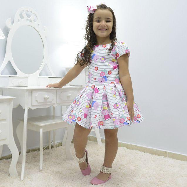 Vestido infantil da Peppa Pig bailarina