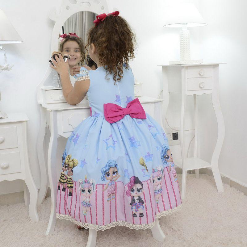 Vestido infantil das mínis bonecas Lol surprise