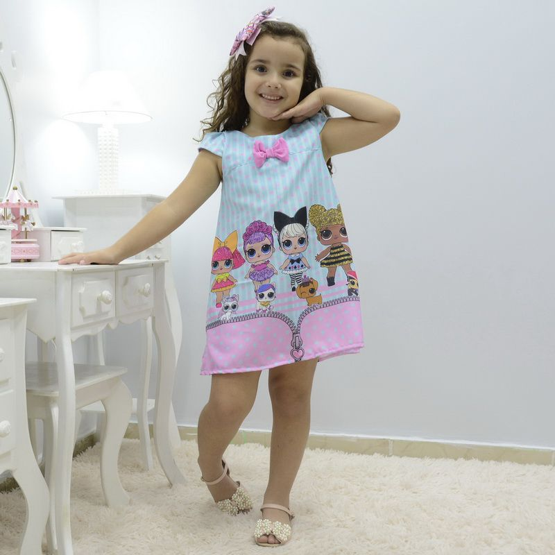 Vestido infantil das mínis bonecas Lol surprise - fashion