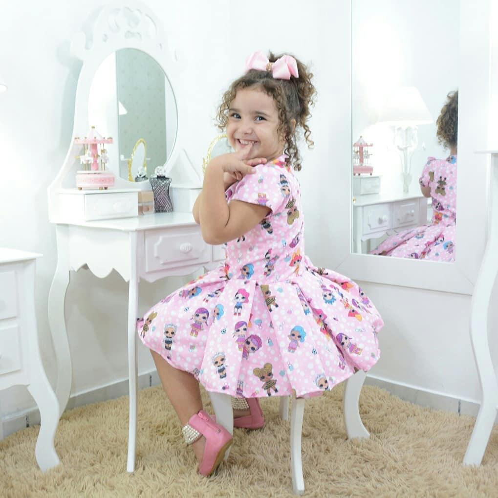 Vestido infantil festa das mínis bonecas Lol surprise - smart