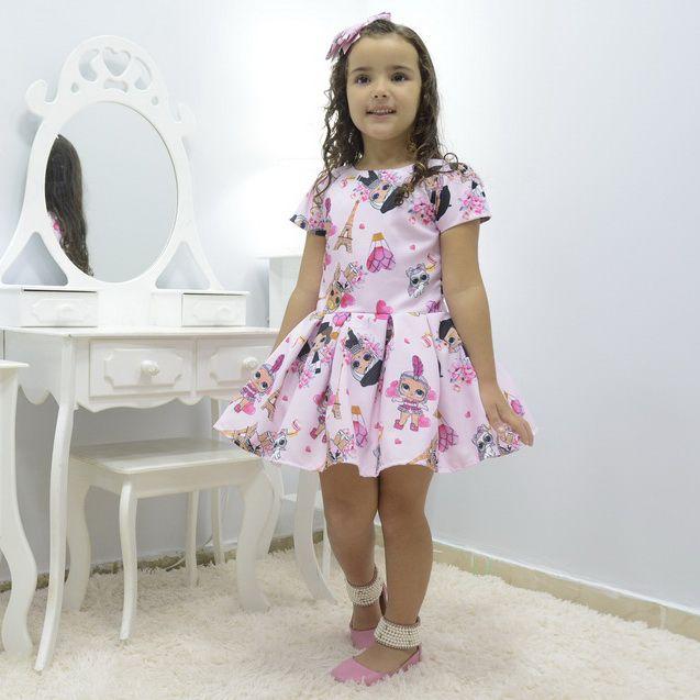 Vestido infantil Lol Paris rosa