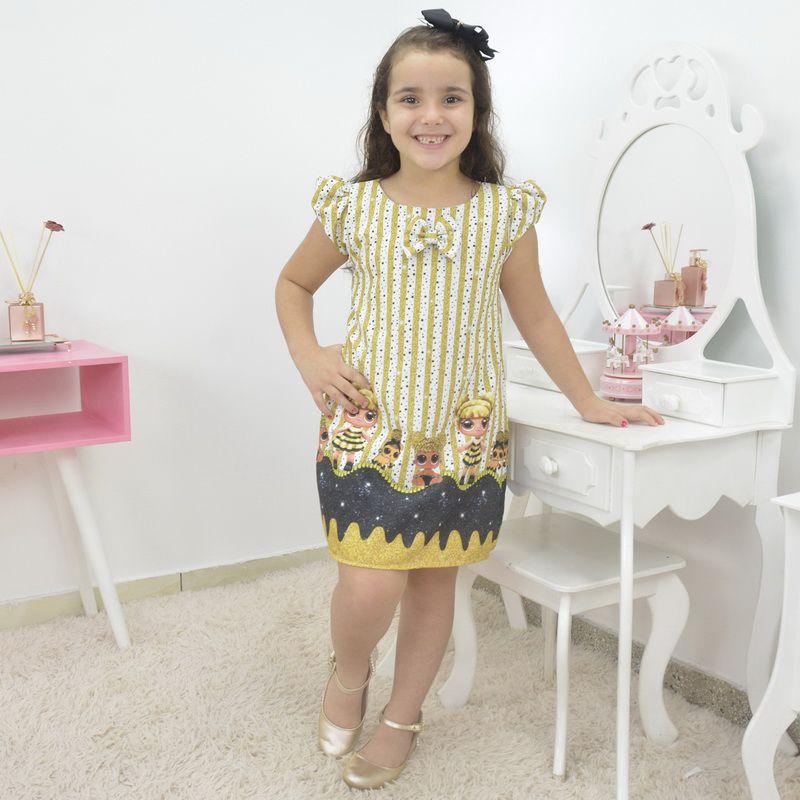 Vestido infantil Lol surprise queen bee