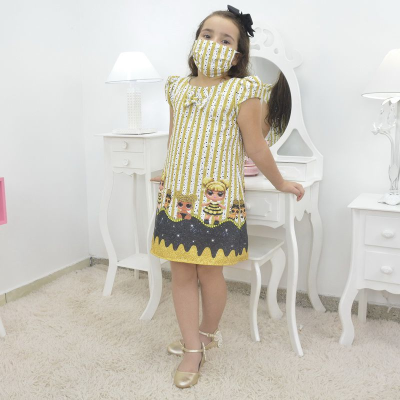 Vestido infantil Lol surprise queen bee