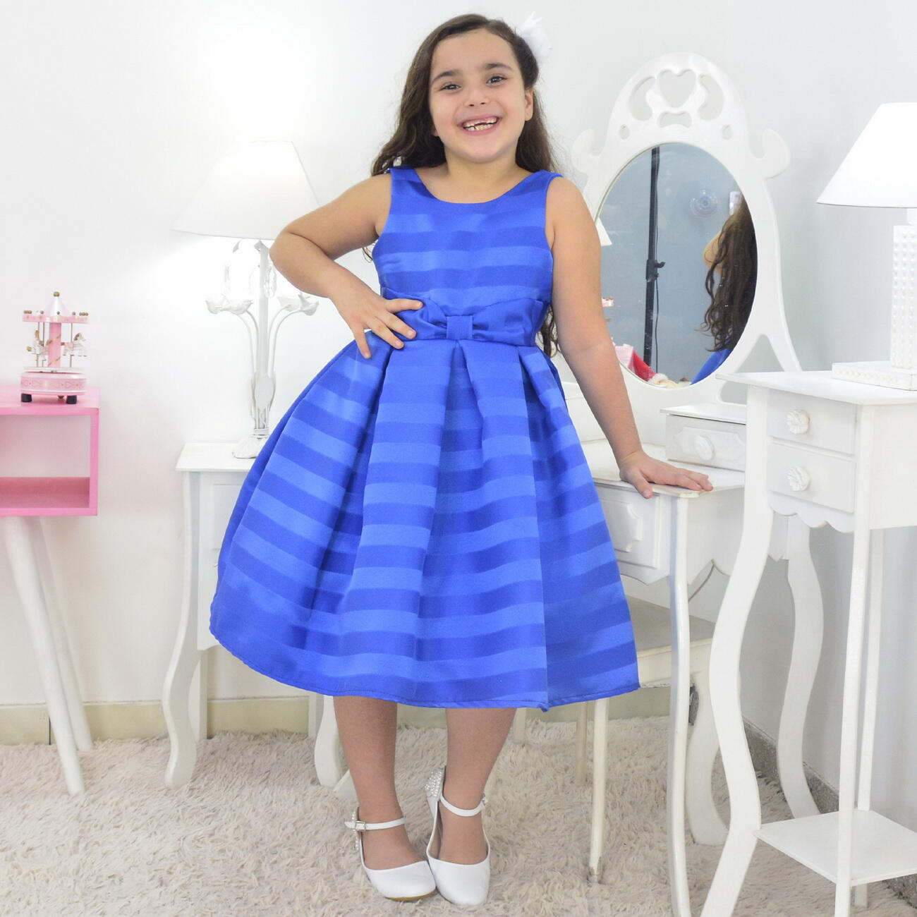 Vestido infantil Azul Royal