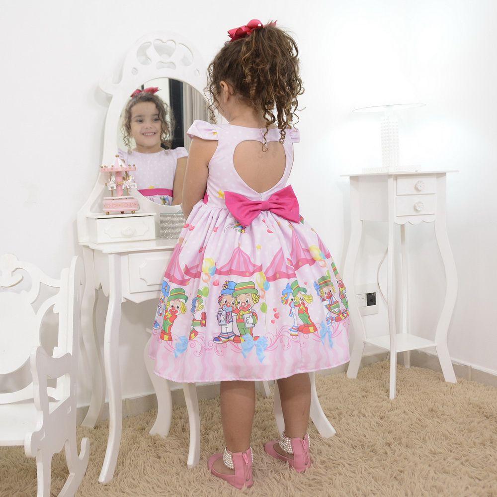 Vestido infantil tema do Patati Patatá no circo