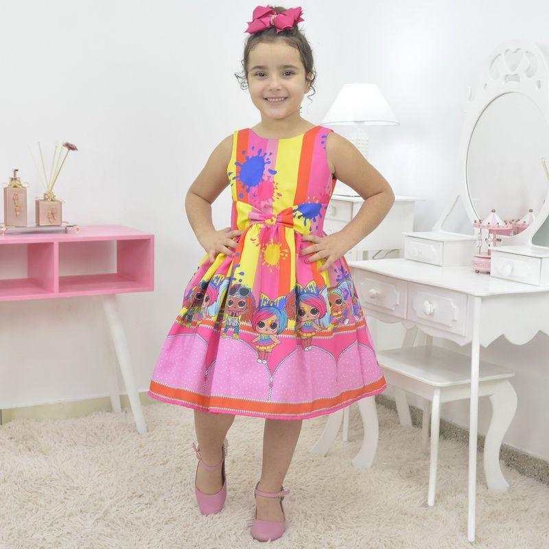 Vestido infantil tema Lol Hairgoals Slime