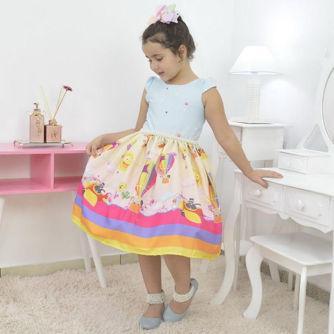 Vestido infantil tema Mundo Bita