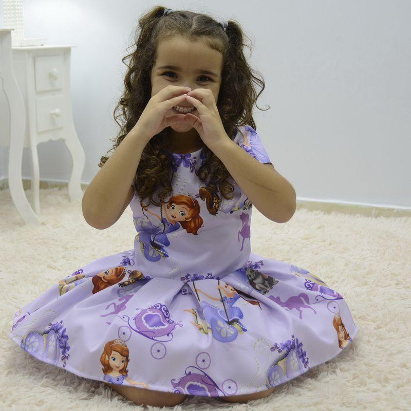 Vestido infantil tema Princesa Sofia