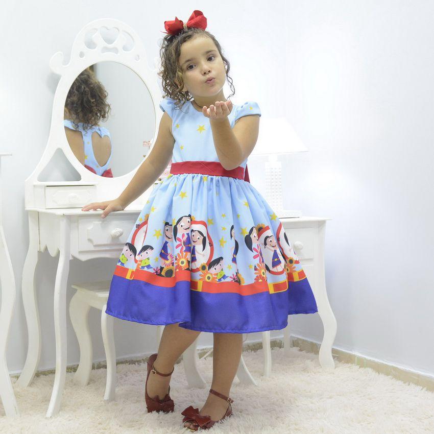 Vestido infantil tema Show da Luna