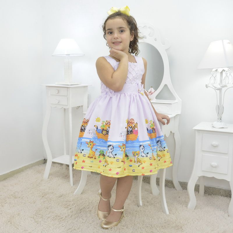 Vestido infantil temático Arca de Noé