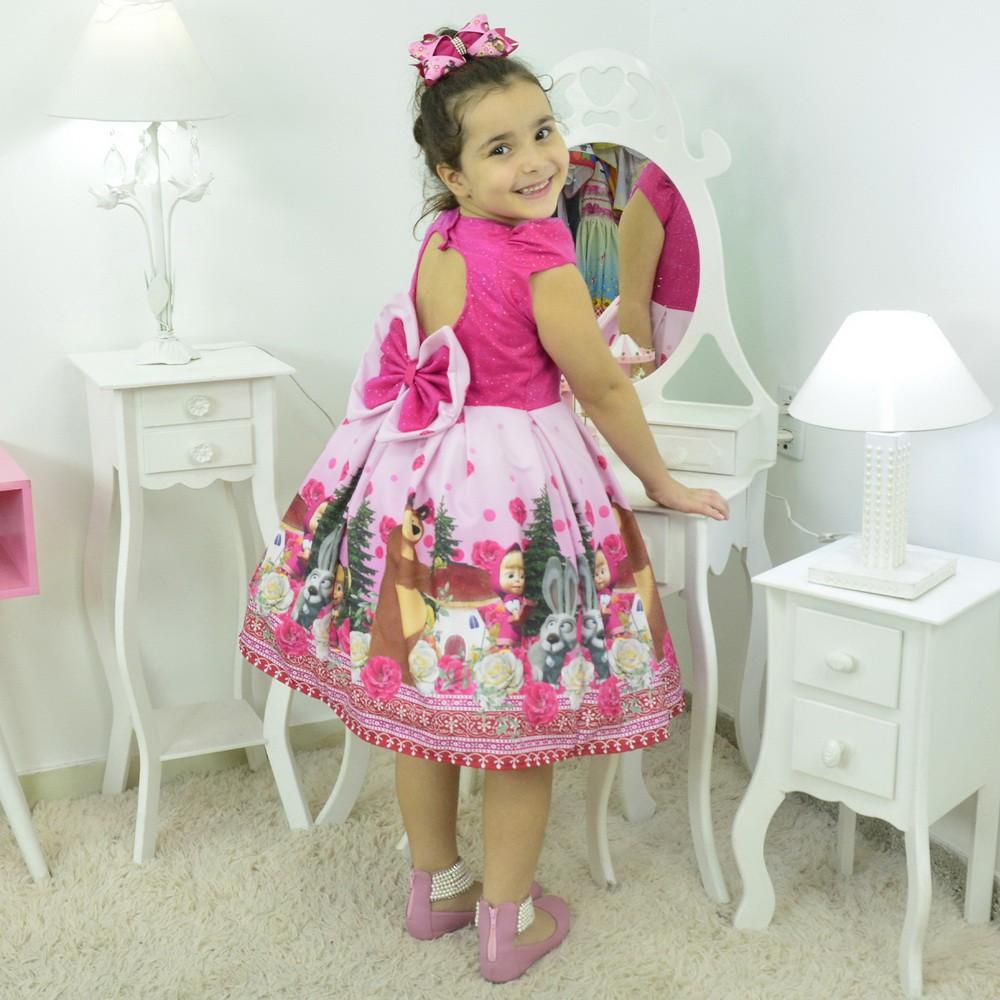 Vestido Masha e o Urso Rosa Pink