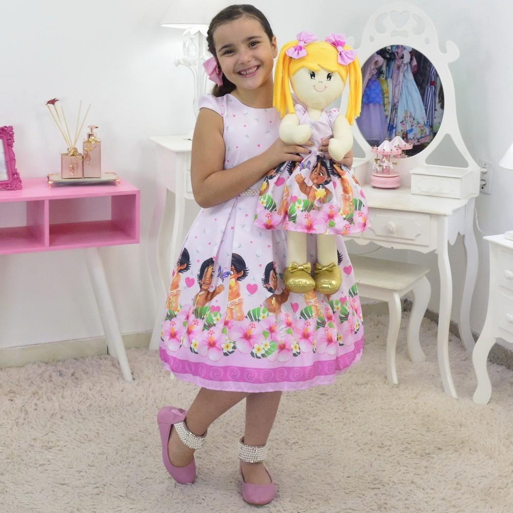 Tal Menina Tal Boneca - Vestido Moana Bebê luxuoso