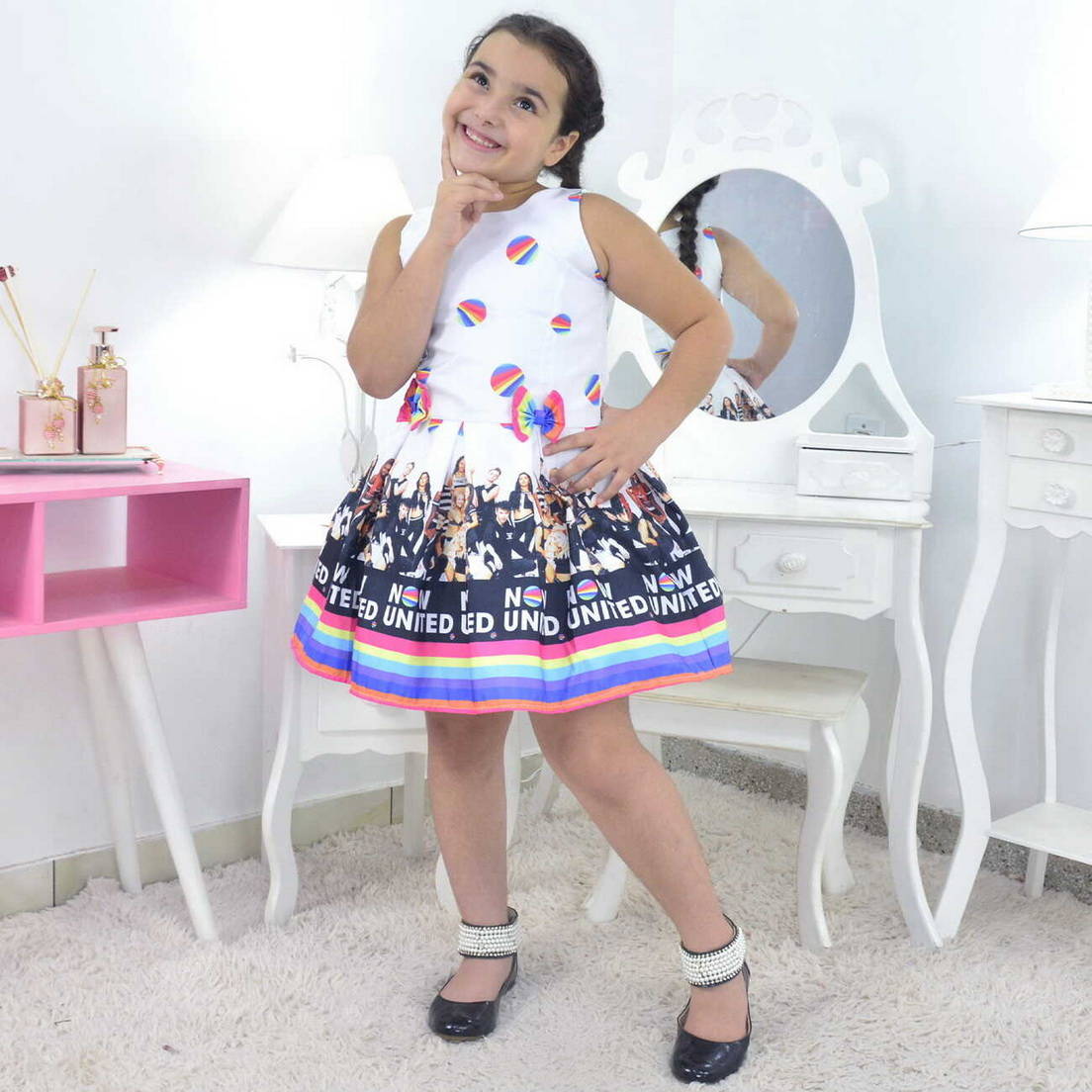 Vestido Now United Infantil