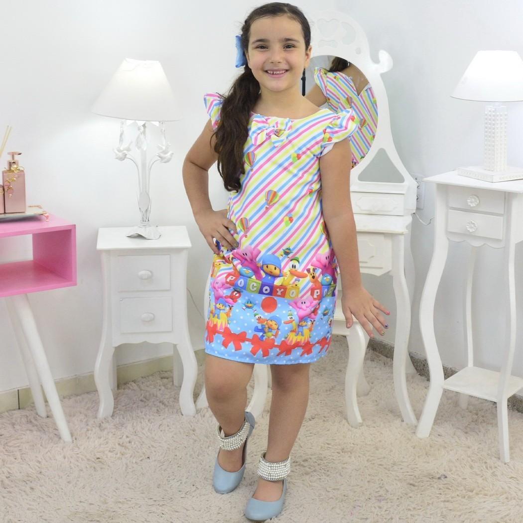 Vestido Pocoyo Trapézio