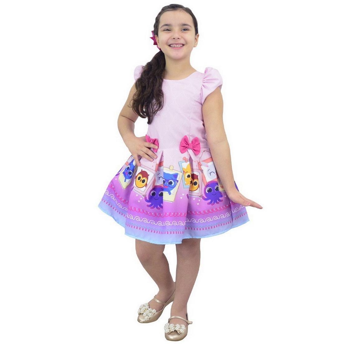Vestido tema Bolofofos Rosa