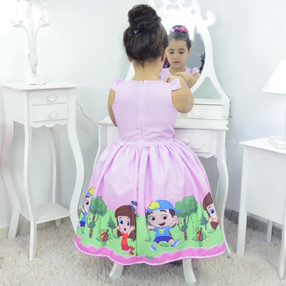 Vestido tema Luccas Neto e Gi Rosa