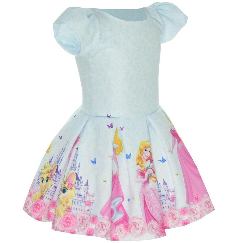 Vestido tema Princesa Aurora - Bela Adormecida