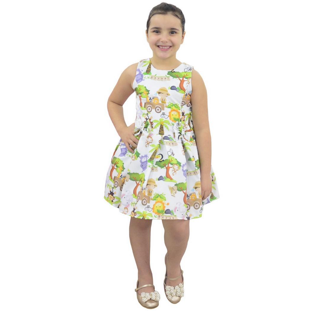 Vestido Infantil Safari