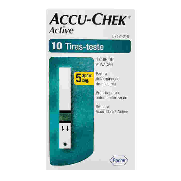Fita para Glicose Accu-Chek Active c/50 Tiras Reagentes