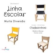 Cadeira Escolar Infantil (3 a 8 anos) - Laminado Colorido - Madeira Maciça