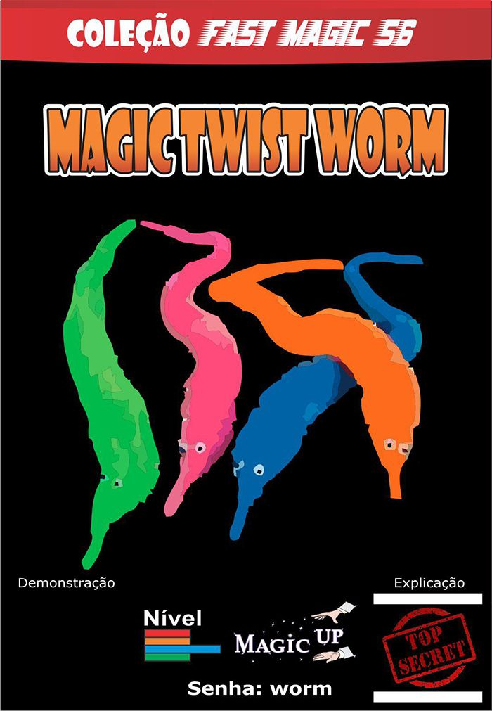 01 Magic Twist Worm Coleção Fast Magic N 56 R+