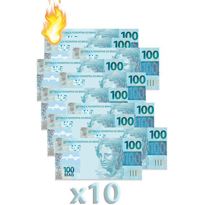 10 Burning Money - (Notas Flash) 100 Reais B+