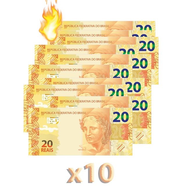 10 Burning Money - (Notas Flash) 20 Reais. B+