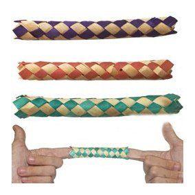 10 Chinese Finger Traps - 10 Algemas  de Dedos B+