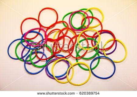 100 Elásticos para Manipulação- Colorfull Ruber Band M+
