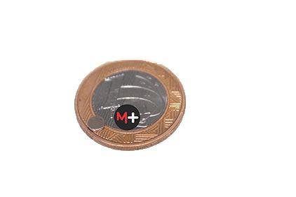 10 Imãs Neodímio  4X1mm (Carta) b+