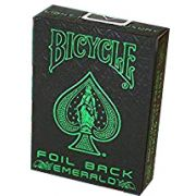 Baralho Bicycle Foil Back Emerald- Metal