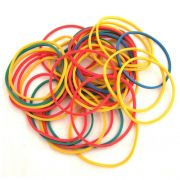 100 Elásticos para Manipulação- Colorfull Ruber Band R+