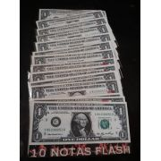 10 BURNING MONEY - 10 NOTA FLASH 1 Dollar