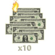 10 Burning Money - (Nota Flash) 1 Dólar F+