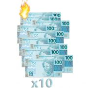 10 Burning Money - (Notas Flash) 100 Reais B+