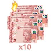 10 Burning Money - Notas Flash 10 Reais B+