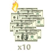 10 Burning Money - (Notas Flash) 50 Doláres F+