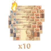 10 Burning Money - (Notas Flash) 50 Reais. B+