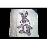 Lenço seda coelho 45 Cm