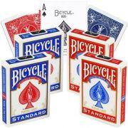 4 Baralhos Bicycle Standard azul e vermelho B+